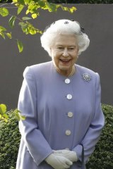 Queen Elizabeth visits the Chelsea Flower Show last week.