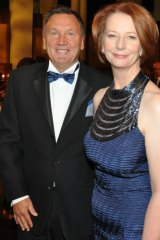 Tim Mathieson and Prime Minister Julia Gillard at the 2012 Mid Winter Ball in Canberra.