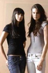 Culture of harassment...models Dunja Knezevic, left, and Victoria Keon-Cohen.
