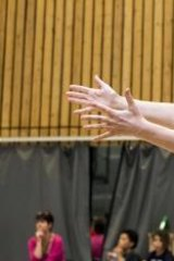 Chorus: Melbourne's Lucy Guerin, who choreographed the interludes, in rehearsal.