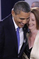 Barack Obama and Julia Gillard have struck up a rapport.