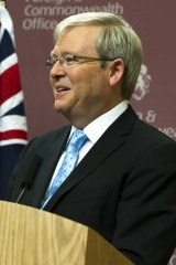 """""""Their behaviour is globally unacceptable"""" ... Foreign Affairs Minister Kevin Rudd on Iran."""