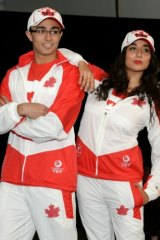 The sporty-luxe Canadian uniforms.