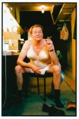 """Bob Hornery during rehearsals for """"The Elocution of Benjamin Franklin"""" in June 1994. """"Age"""" photographer Craig Abraham won best portrait in the Nikon/Kodak Press Photo of the Year for this shot."""