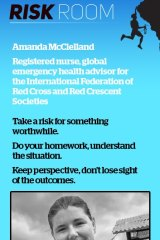 Amanda McClelland is reluctant to call herself a risk-taker.