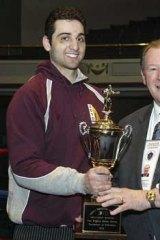Tamerlan Tsarnaev acceptsa trophy in 2010.