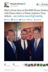 Ahmed has also rubbed shoulders with such famous faces as Prince Harry and Prime Minister Tony Abbott.