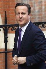 Facing ethics inquiry ... British Prime Minister David Cameron.