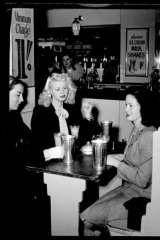 Dear dairy ... it's all froth and bubble at a Kings Cross milk bar in 1946.