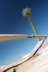A sand mining operation on Stradbroke Island.