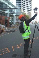 Jason Mill surveys the scene in devasted Christchurch.