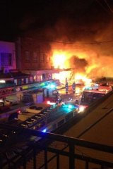 An explosion and fire destroy Rozelle shop and units.