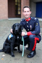 Labrador Hawk works with the Calgary Police Service as a Canine Assisted Intervention Trauma Dog.