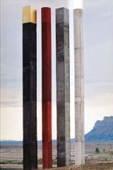 Tall order: Andrew Rogers placed <i>Elements</i>, an 11-metre-high installation, at Green River, Utah.
