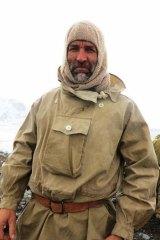 Expedition leader Tim Jarvis in Shackleton era clothing