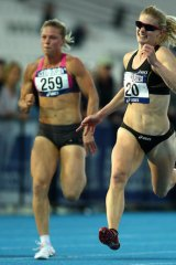 Canberra's Melissa Breen wins the Women's 100 Metre open final at the Australian Athletics Championships.