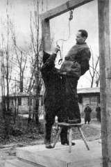 Rudolf Höss is hanged for war crimes  in 1947.