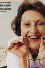 Barbara Callcott, who was Mrs Marsh in the toothpaste advertisement.