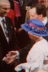 Paul Keating's infamous royal touch in 1992.