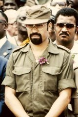 Desi Bouterse while head of the military in 1985.