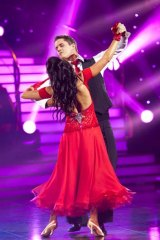 <i>Dancing with the Stars</i> winners Johnny Ruffo and Luda Kroitor.