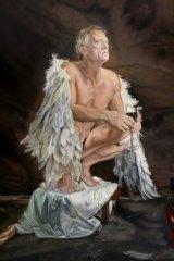 Mertim Gokalp's <i>The Red Shoe</i> portrait of actor Simon Burke.
