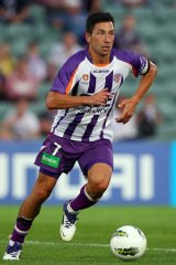 Disgruntled: Glory veteran Jacob Burns was nonplussed when left on the bench for last weekend's match in favour of Edwards' son, Ryan.