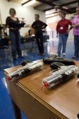"""Like shoe-shopping"" ... gun ownership among American women has surged in recent years."
