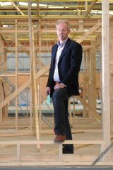 David Rowe of Bond Homes in one of the company's relocatable homes.