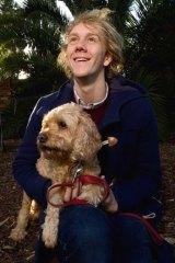 Home boy: Comedian Josh Thomas and his dog John.
