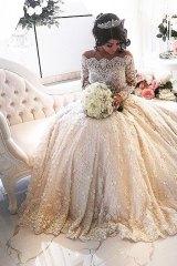 Aysha Mehajer in one of the many photos uploaded by bridal designer Nektaria after the wedding.