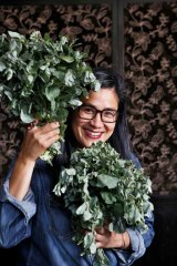 Kylie Kwong is using salt bush in her dishes.