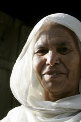 Fatima Bi, Saroo's mother at her home in Ganesh Talai in the city of Khandwa.