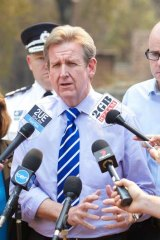 Lobbying the Greens to support the bill: Premier Barry O'Farrell.