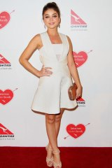 Modern Family star Sarah Hyland at the Qantas event.