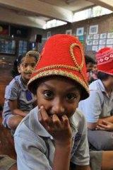Kids from Westmead Public School get a taste of Bell Shakespeare.