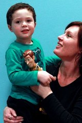 Melissa Wainwright with son Jackson.