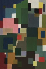 Ralph Balson, <i>Constructive painting</i>, 1953, oil on composition board, 107 x 70 cm.