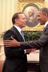 Prime Minister Tony Abbott and US President Barack Obama meet at the White House in June 2014.