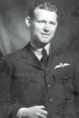 Australian Air Force pilot Henry Lacy Smith, whose plane was shot down in France in 1944.