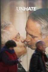 A third image shows Israeli Prime Minister Benjamin Netanyahu and Palestinian leader Mahmud Abbas.