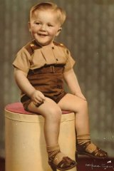 Tumultuous journey: Steve Hardy as a toddler.