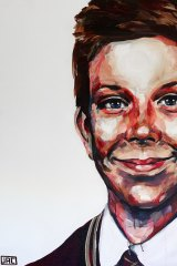 Indelible image: Artist Jacqui Clark sent this portrait of Luke to Rosie after seeing her story on television.