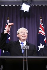 "Kevin Rudd: ""A kid's development doesn't just begin at nine and end at three""."