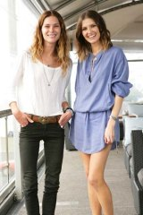 Cool chic ... Erin Wasson and Kate Waterhouse at Ravesi's.