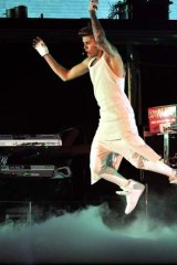 Justin Bieber at Rod Laver Arena.