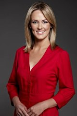 Channel Nine's Alicia Loxley.