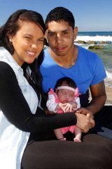 Full speed ahead … Albert Kelly, partner Mtia Tass and daughter Brida-Lee.