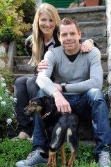 Cadel Evans with his wife Chiara Passerini.