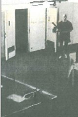 Johnson in CCTV footage of the murder.